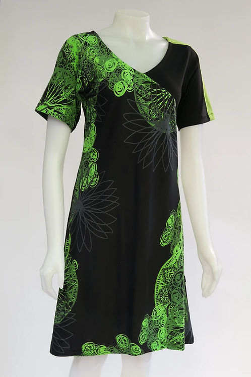 Lime Mandala Print Dress