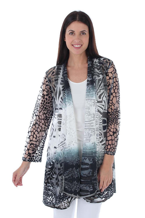 Black and White Lacey Cardigan