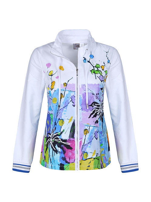 """Dolcezza """"Still Life for a Wedding Party"""" Zip Front Jacket"""