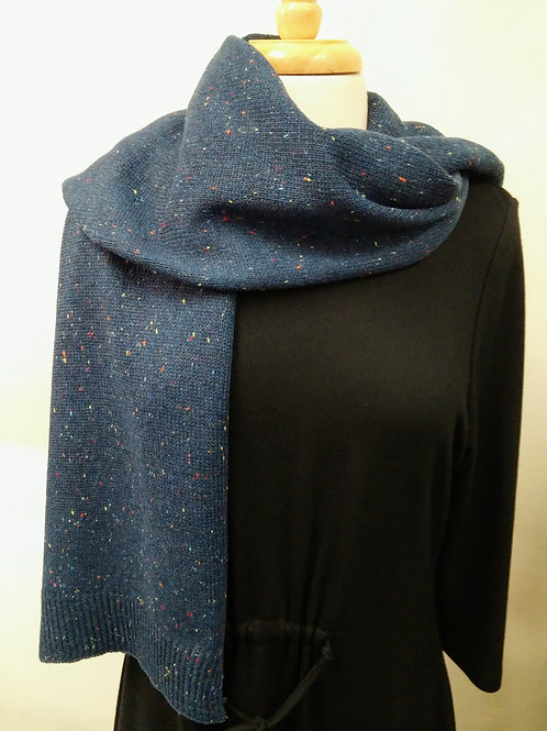 Blue Donegal Knit Scarf