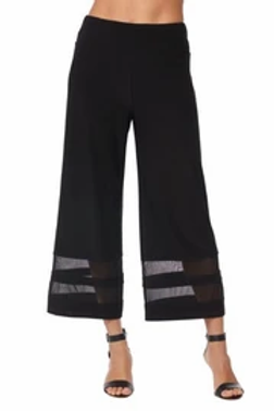 Artex, Black Jersey Culotte with Mesh Stripe Insterts
