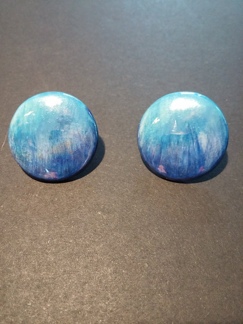 Fotherby Ocean Blues Round Ceramic Earrings