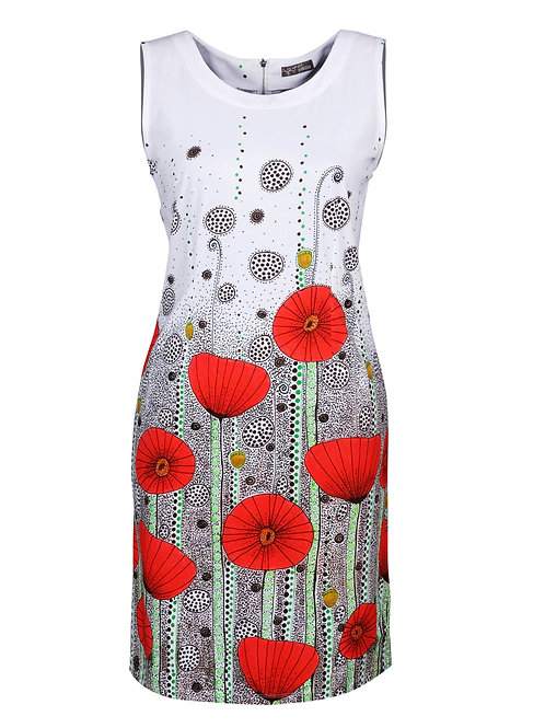 """Poppy Meadows"" Sleeveless Dress"
