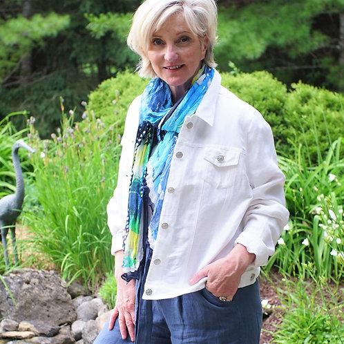 White Line Jean-Style Jacket