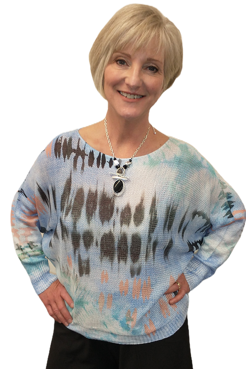 """Bella Amore """"Tie Dyed"""" Sweater"""