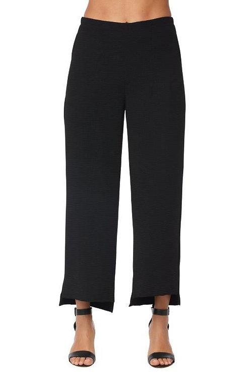 Compli-K Black Hi-Low Hem Pants