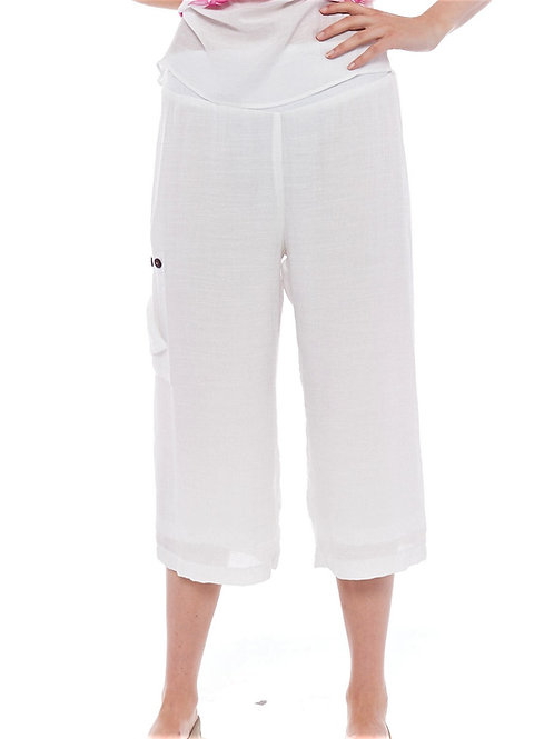 Miss Nikky White Crinkle Culotte