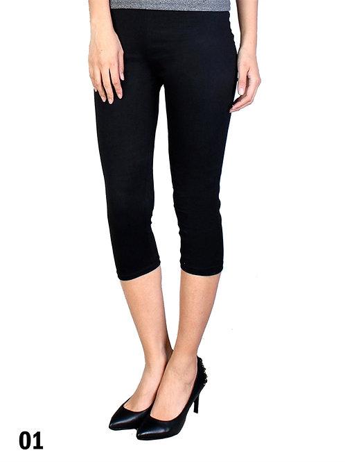 Black Silky Capri Leggings