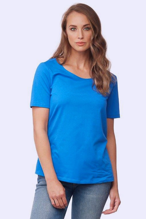 Royal Blue Organic Cotton Tee Top