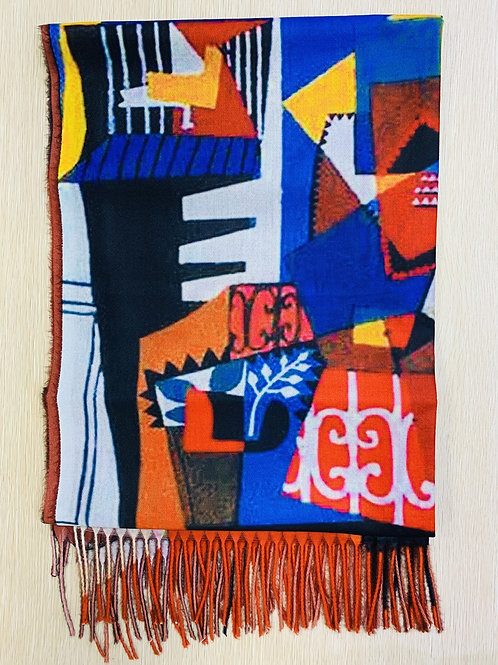 """Picasso """"The Bird Cage"""" Scarf"""