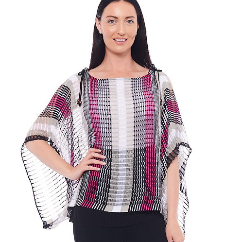 Miss Nikky Open Weave Poncho with attached Tank Top