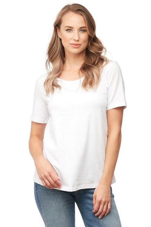 White Organic Cotton Tee Top