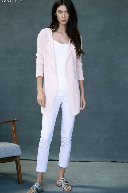 Blush Pink Open Front Long Cardigan Sweater