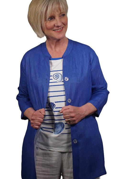 Sapphire Blue Linen Shirt