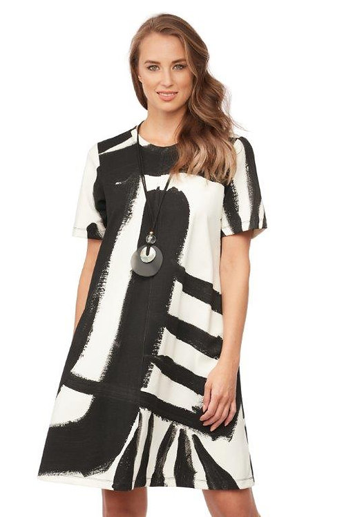 """Claire Desjardins """"With Conviction"""" Short Sleeve A- Line Dress"""