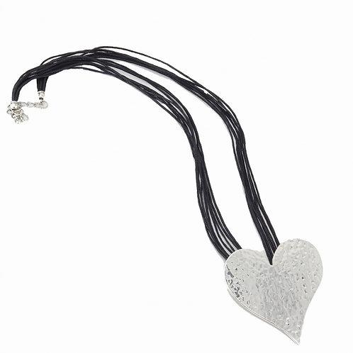 Hammered Metal Heart Pendant