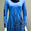 Thumbnail: Leopards & Roses Blue/Navy Rolled Collar Tunic