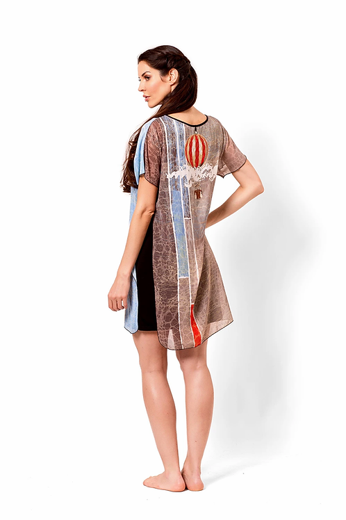 Hot Air Balloon Chiffon OverlayTunic/Dress