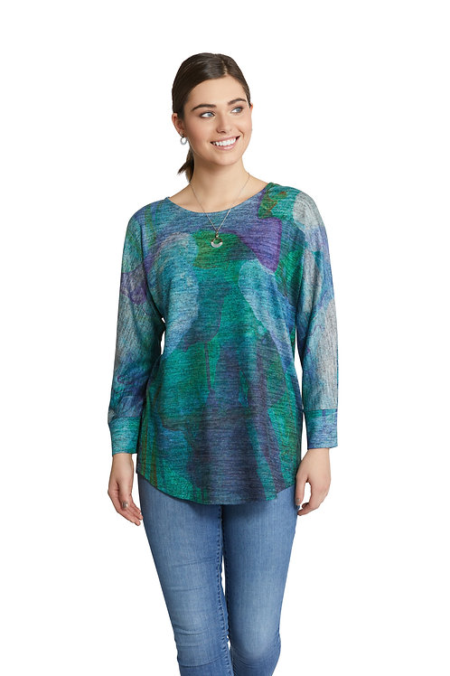 """When Dusk Settles In"" Brushed Fleece Dolman Sleeve Top"