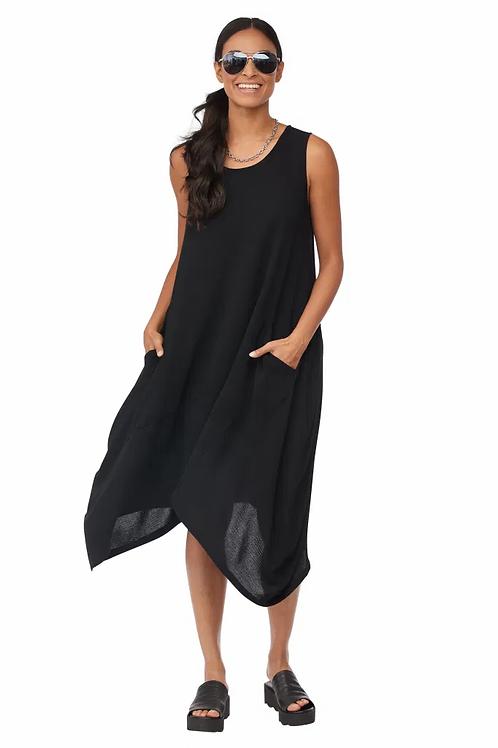 Compli-K Black Handkercheif Hem Sleeveless  Tunic/Dress