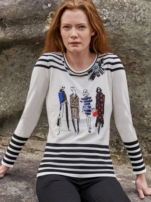 """The Fashion Runway"" crew-Neck Sweater"