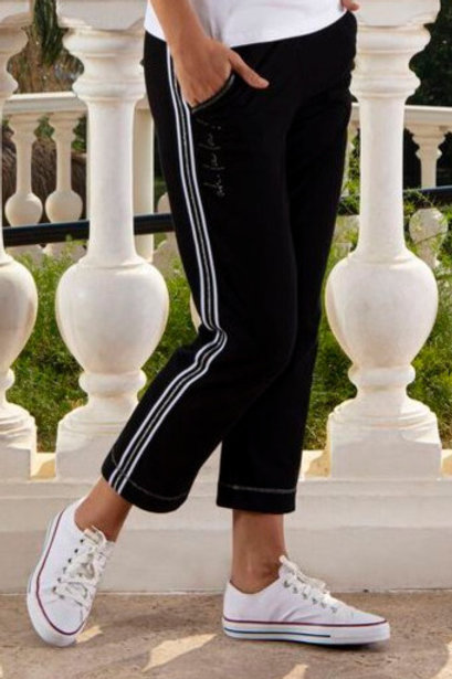 Ankle Length Black Athleisure Pant