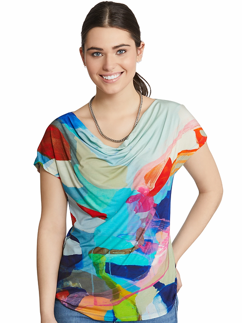 """Take Me to California"" Draped Front Top"