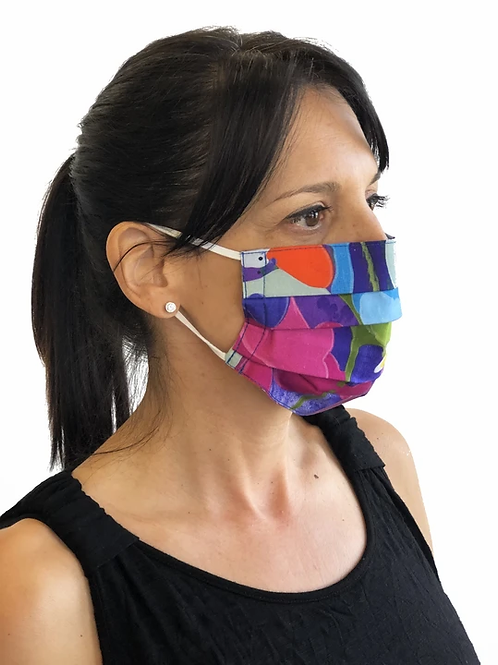 """""""Summer Pop"""" Non-Medical Face Mask by Claire Desjardins"""