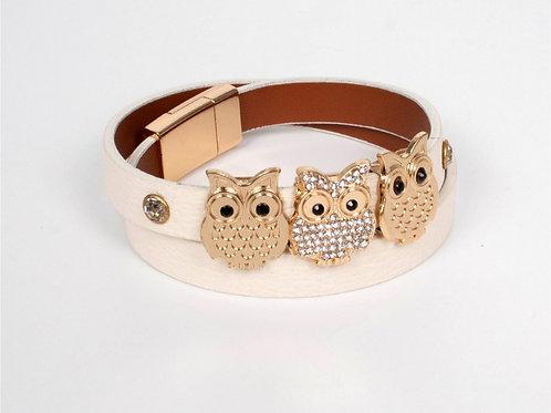 BeigeOwls Wrap Bracelet