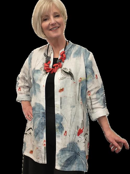 Judy Joannou Designs Koi Pond Linen Shirt