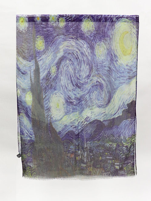 """Gallery Collection Van Gogh """"Starry Night"""" Sheer Scarf"""