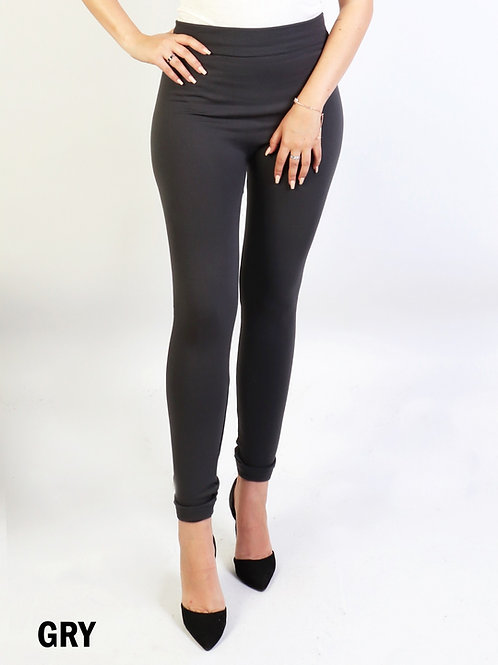 Grey Cozy  One Size Jeggings