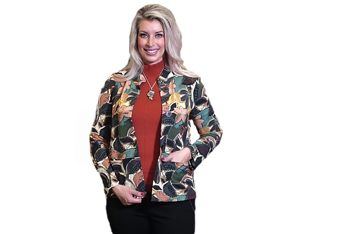 Autumn Leaf Button front Jacket