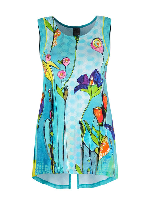 """Summer's Coming"" Sleeveless Tunic Top"
