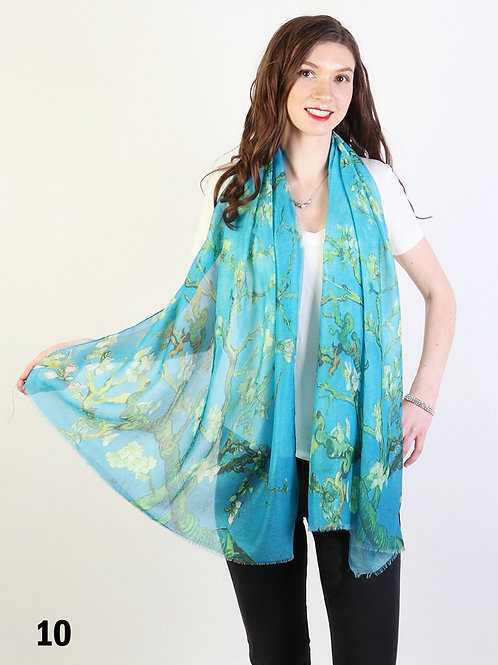"""Gallery Collection Van Gogh """"Almond Blossom"""" Sheer Scarf"""