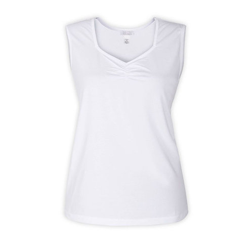 White sleeveless Shell