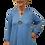Thumbnail: Sky Blue One-Button Hi/Low Cardigan