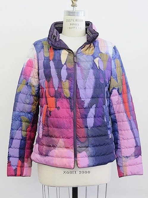 """Clusters of Conversations"" Reversible Puffer Jacket Item #90204"