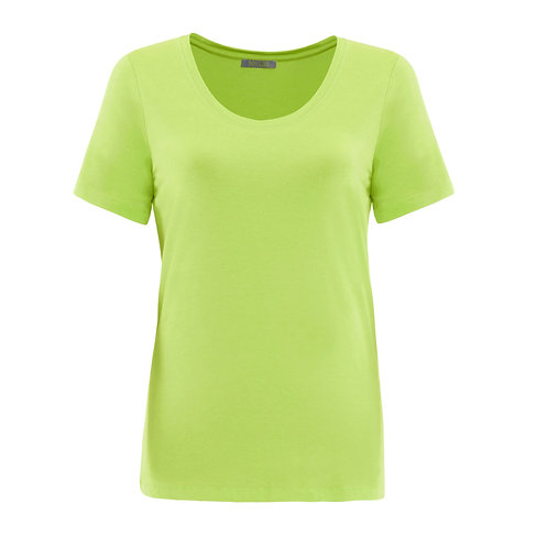 Lime Scoop Neck Tee