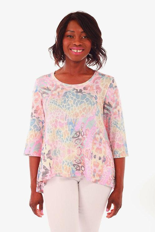 Fresh FX Pastel Print A-Line Sweater