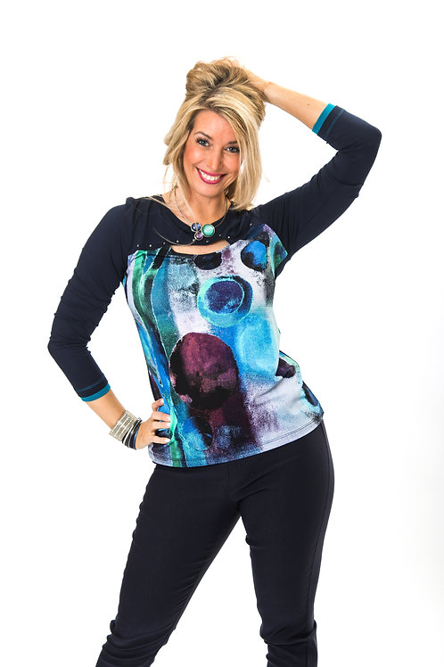 """Bubble Tree Blue"" Long Sleeved Tee"