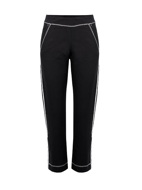 Black Knit Ankle Length Pant
