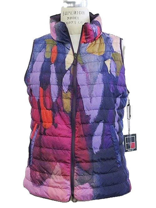 """""""Clusters of Conversations"""" Reversible Puffer Vest"""