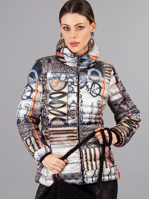 """Poetic Metaphore"" Puffer Jacket by Dolcezza 70650"