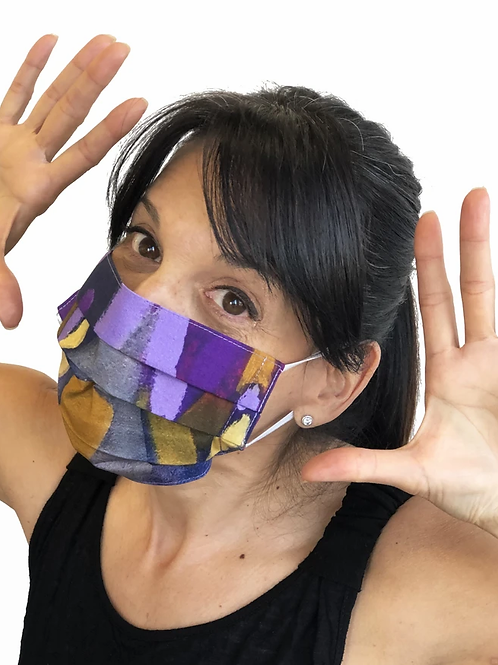 """Clusters of Conversation"" Non-Medical Face Mask by Claire Desjardins"