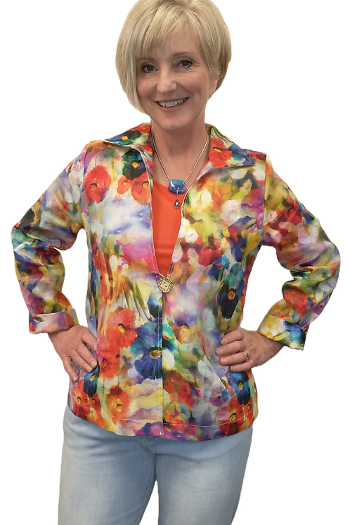 Judy Joannou Designs Floral Linen Bella Jacket