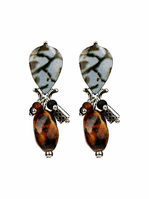 Nature Inspired Drop Earrings