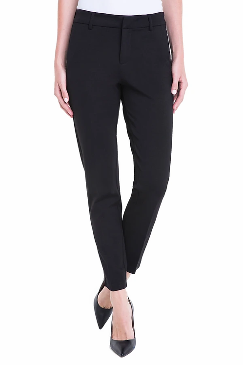 Kelsey Black Ponte Knit Trouser
