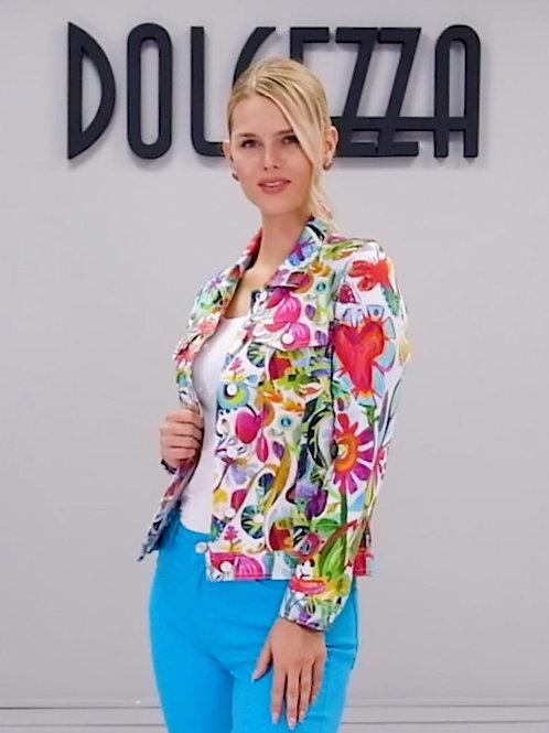 """Dolcezza """"Flower Heart"""" Jean-Style Jacket"""