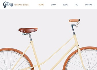 bicycle store website template wix